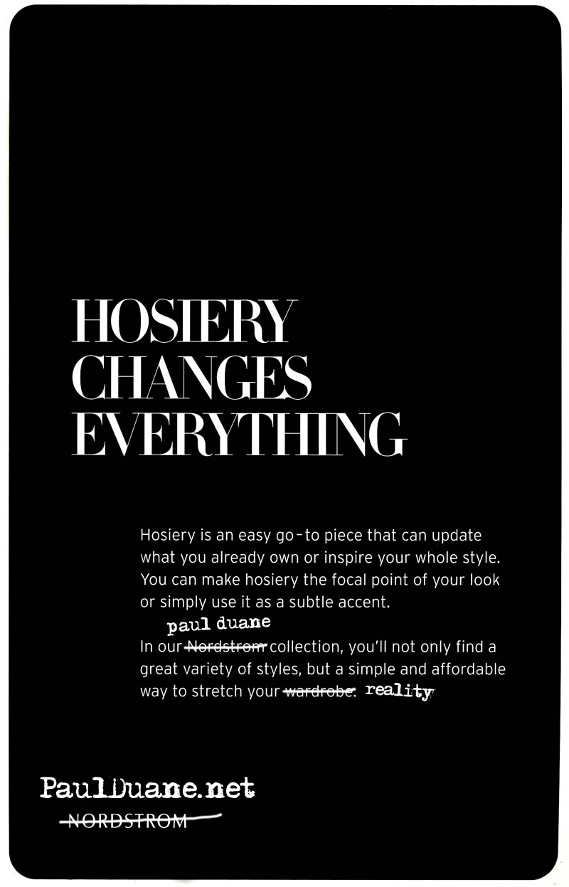 Hosiery Changes Everything - Paul Duane