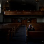 Here I am sitting in the chapel I grew up in, the Logan 2nd Ward.